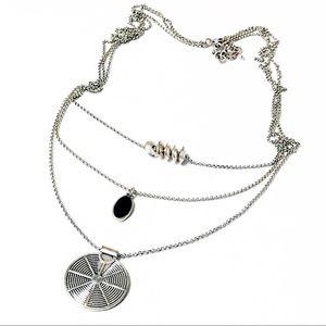 Lucky Brand • Silver 3-Strand Boho Necklace